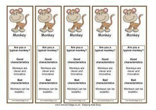 new year animals bookmarks new year printables