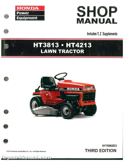 honda ht3813 ht4213 lawn tractor shop manual