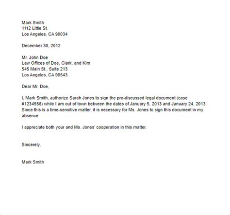 authorization letter lawyer 40 authorization letter sle templates free pdf word