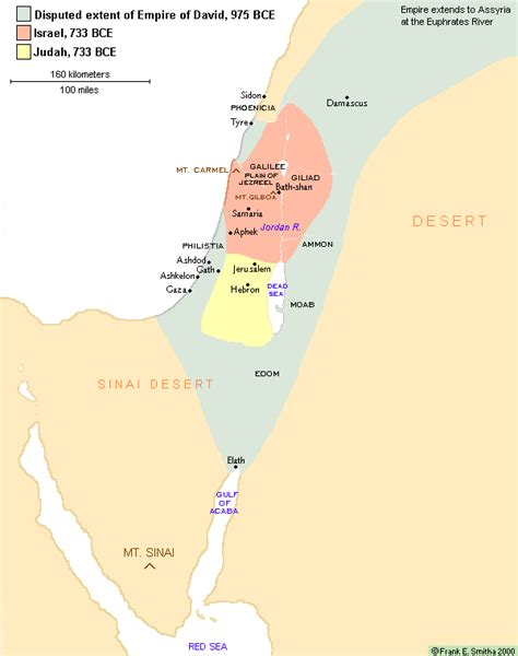 ancient middle east map judah map of israel and judah 733 bce library