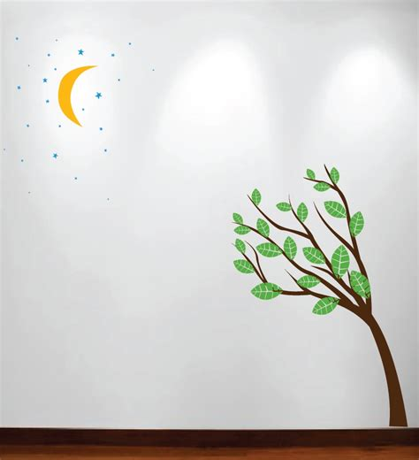 large wall tree nursery decal oak branches 1130 large wall tree nursery decal moon stars night sky 1138