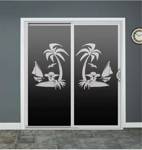 Decals For Glass Doors Palm Tree Sailboat Glass Door Decals Sliding Door Decal Door