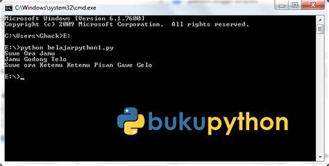 tutorial python bahasa indonesia menulis program python dengan notepad tutorial 4 buku