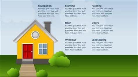housing finance powerpoint template building a house a infographics powerpoint template from
