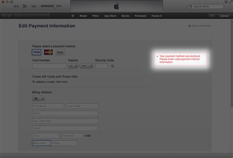 Apple Your Payment Method Was Declined | if you are getting error while updating your credit card