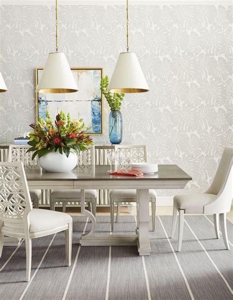 coastal dining room sets coastal living oasis oyster moonrise pedestal extendable