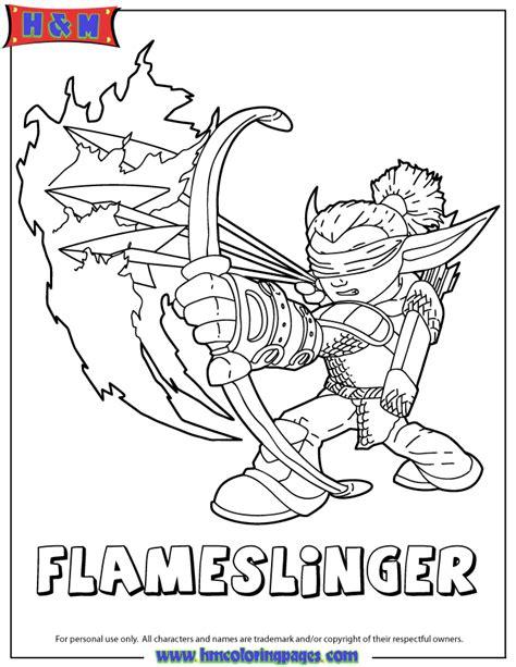 skylanders giants fire flameslinger series2 coloring page