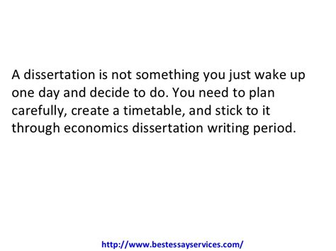 economics dissertations how to do an economics dissertation