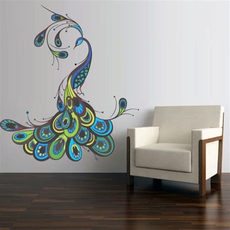 peacock wall stickers peacock wall home decor xpressionportal