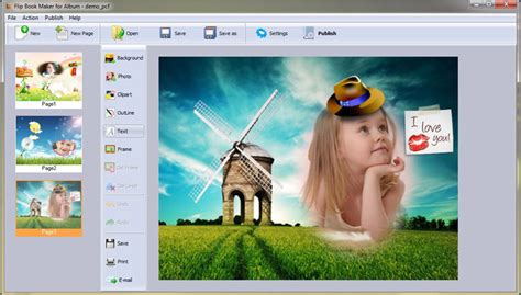picture book maker output options of flip book maker software