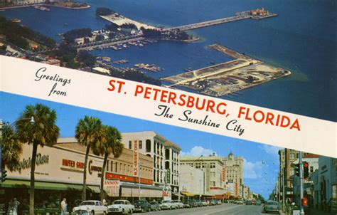 Records St Petersburg Fl Florida Memory Greetings From St Petersburg Florida Quot The City Quot