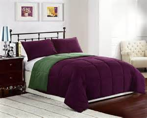 Purple And Green Bedding by Purple Green Alternative Mini Comforter Set