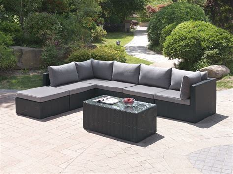 piece sectional seating group  cushions patio