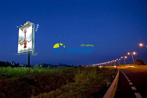 maxlite led shop light projects of outdoor billboard and commercial buildings