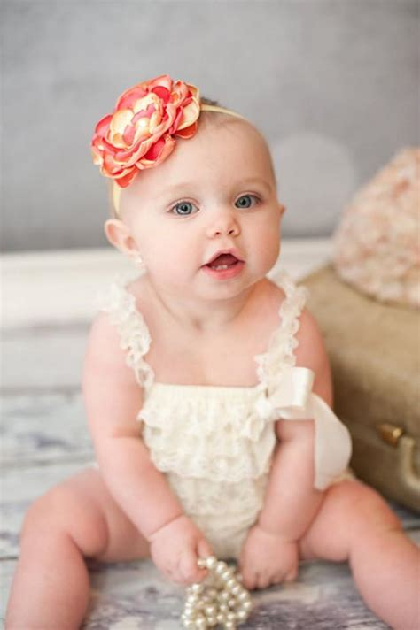 beby on pinterest flower girls baby girl photos and coral yellow peach flower baby headband vintage photo