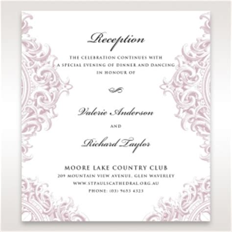 wedding reception invitation images wedding reception invitations to match your theme