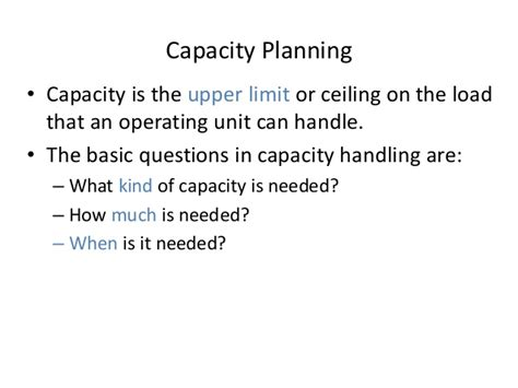 How Many Units Are Required For An Mba by Mba Ii Pmom Unit 2 1 Capacity A