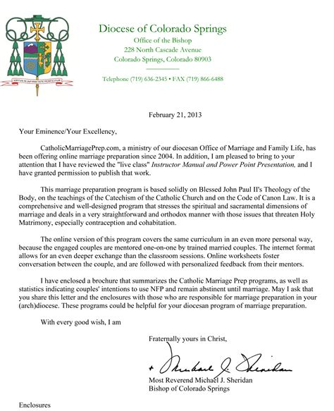Endorsement Letter For Marriage Pre Cana Catholic Marriage Prep