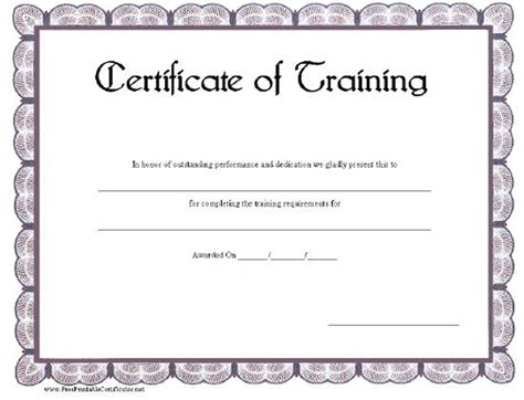 search results for training certificate templates free