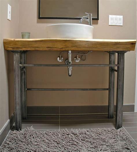 Vanity Slab rael wood wood slab vanity bathrooms