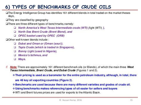 types of bench mark lecture 1 crude oil quality