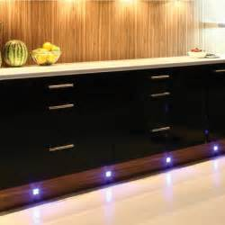 Blue Led Kitchen Lights 4 X Led Kitchen Cabinet Modern Chrome Plinth Light Kit Blue Qvs Direct