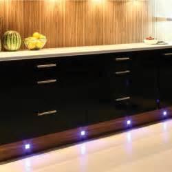 Led Kitchen Plinth Lights 4 X Led Kitchen Cabinet Modern Chrome Plinth Light Kit Blue Qvs Direct