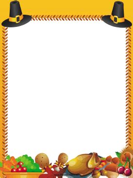 pilgrim hats thanksgiving border