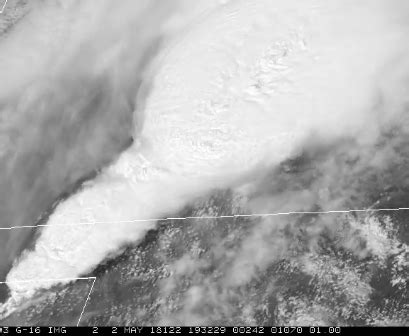 respecting the power of severe storms from space via goes