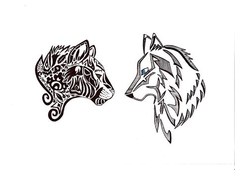 panther tribal tattoo panther and wolf by jud jee deviantart on