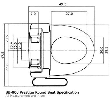 bidet dimensions size guide bio bidet electronic bidet toilet seat