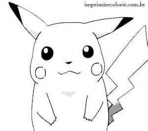 desenhos pintar imprimir colorir pikachu