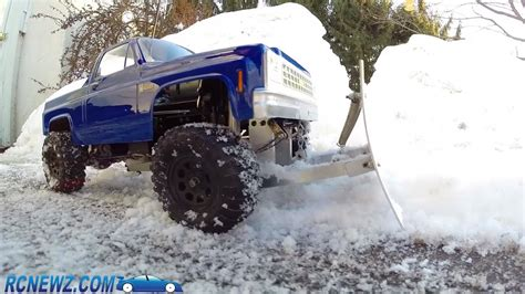 rc truck snow plow youtube