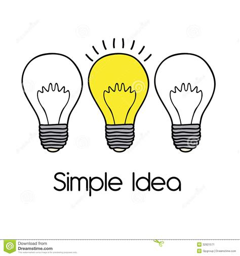 simple ideas simple idea stock image image 32921571