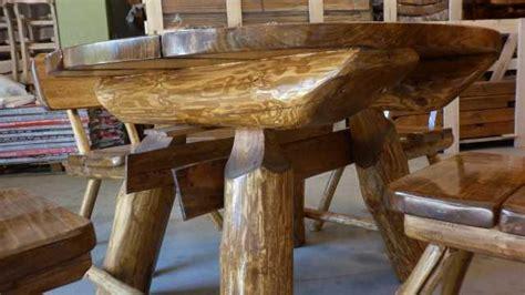 tavolo rustico legno tavolo tavoli da esterno arredo giardino tondo con 4 sedie