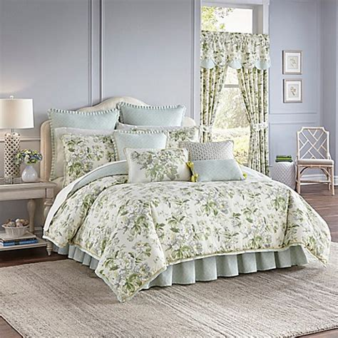 Waverly 174 Fleuretta Reversible Comforter Set In Spring Bed Bath Beyond Comforter Sets