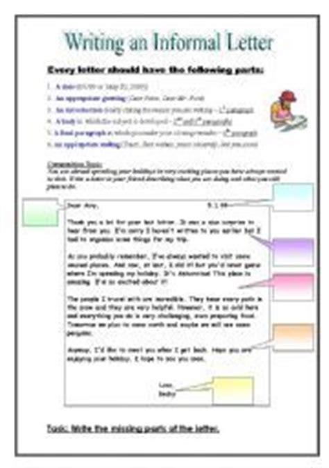 Business Letter Vs Friendly Letter Worksheet Informal Friendly Letter Writing Writing And