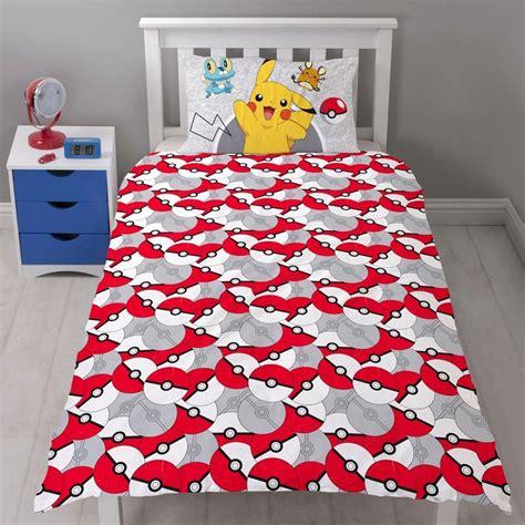 pokemon bedding new pokemon go catch single duvet quilt cover set boys