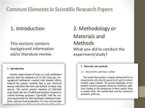 materials and methods section introduction to scientific writing and cse style