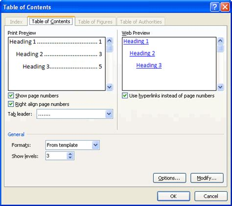 table of contents word 2013 template insert a table of contents in word software tutorial for all