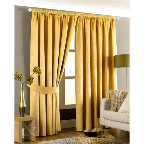 ready made gold curtains 25 best ideas about yellow pencil pleat curtains on