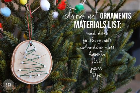 diy christmas ornaments handmade christmas ornaments string art ornaments