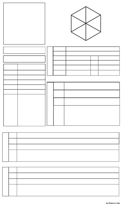 character profile template by princelink on deviantart