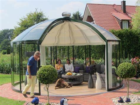 pavillon bausatz alu luxus gartenpavillon rondo vg vk vp garten heinemann