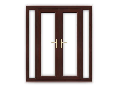 4ft doors upvc 4ft rosewood upvc doors with narrow side panels