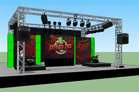 Event Design Google Sketchup | booth stage design on behance