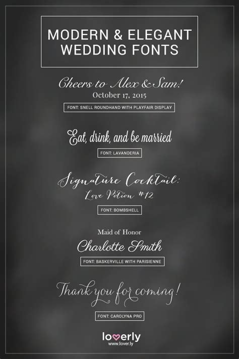 Wedding Font Parisienne by 20 Fabulous Wedding Fonts For Every Wedding Style Loverly