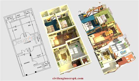 home design 6 marla 6 marla house plans civil engineers pk