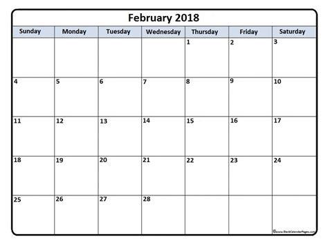 printable february 2018 calendar february 2018 calendar february 2018 calendar printable