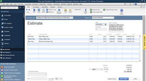 design invoice in quickbooks 2015 quickbooks convert estimate to invoice 183 charla